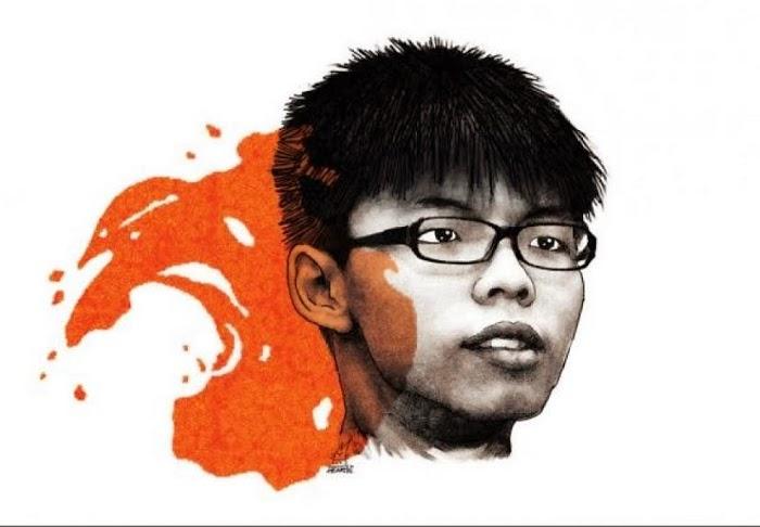 Joshua Wong (Hoàng Chi Phong – giữa) năm nay 17 tuổi - fong1