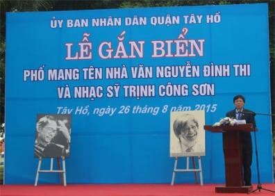 11 ha-noi-chinh-thuc-co-pho-nguyen-dinh-thi-va-trinh-cong-son