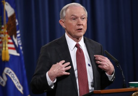 Attorney General Jeff Sessions Holds Press Conference At Justice
